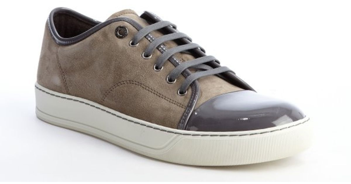 capped toe sneakers - Brown Lanvin Buy Cheap Browse Low Shipping Fee For Sale Cheap Sale Looking For Outlet Good Selling Exclusive Vo4rrcD1p