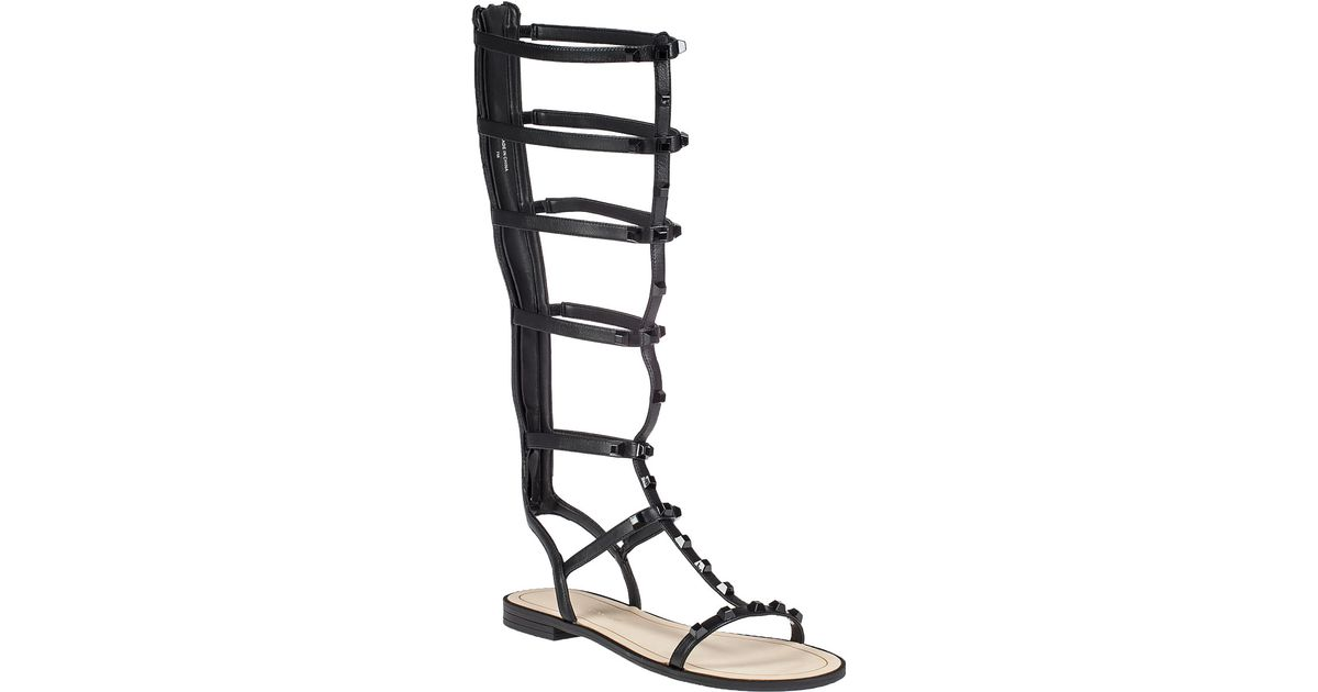 5abcada0a42 Lyst - Rebecca Minkoff Giselle Embellished Leather Gladiator Sandals in  Black