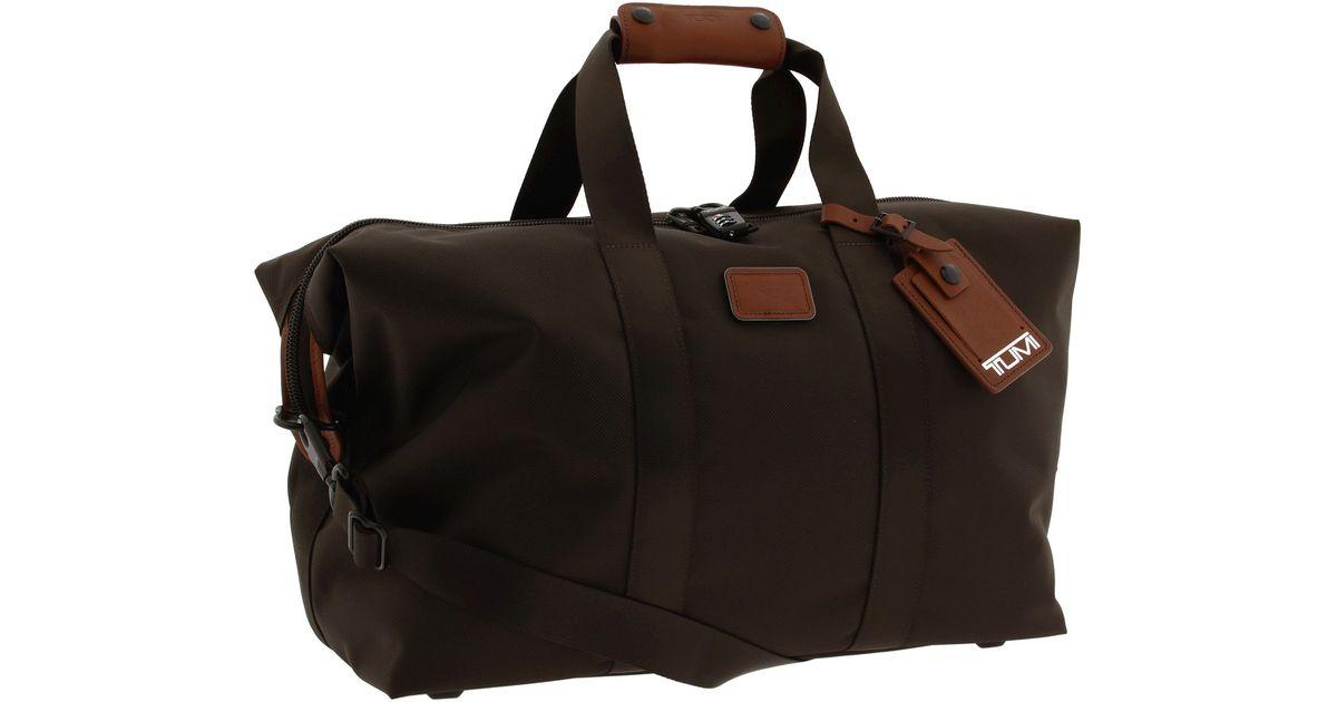 Lyst - Tumi Alpha Travel Small Soft Travel Satchel in Brown 02cb65127e4fd
