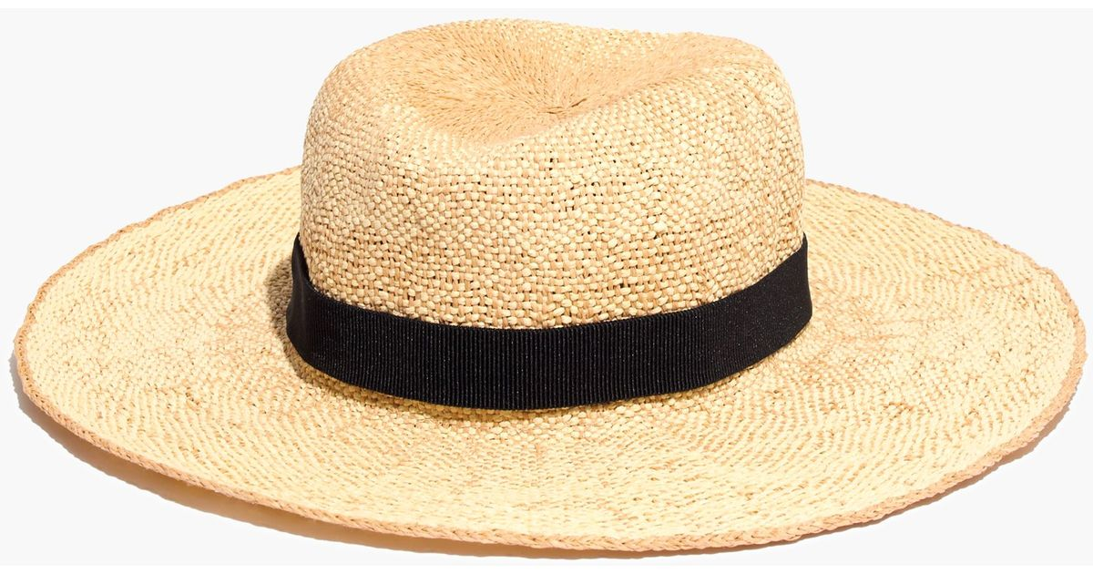 ce2b7096737 Lyst - Madewell Packable Straw Hat in Natural