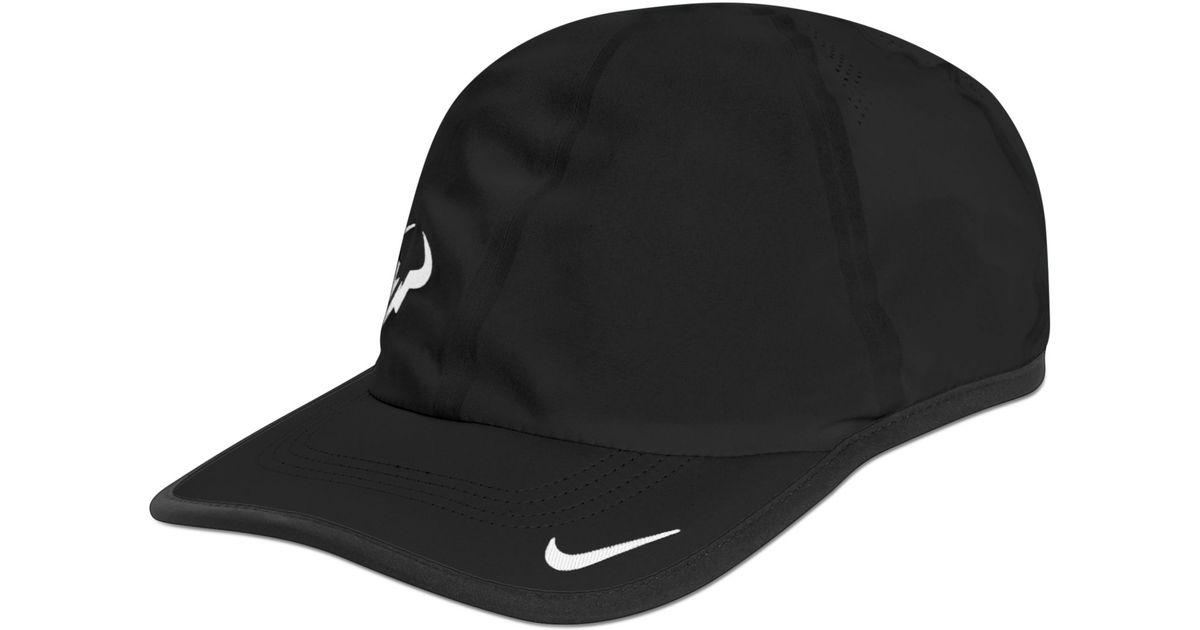 Lyst - Nike Rafa Bull Logo 20 Cap in Black for Men b102a85c199