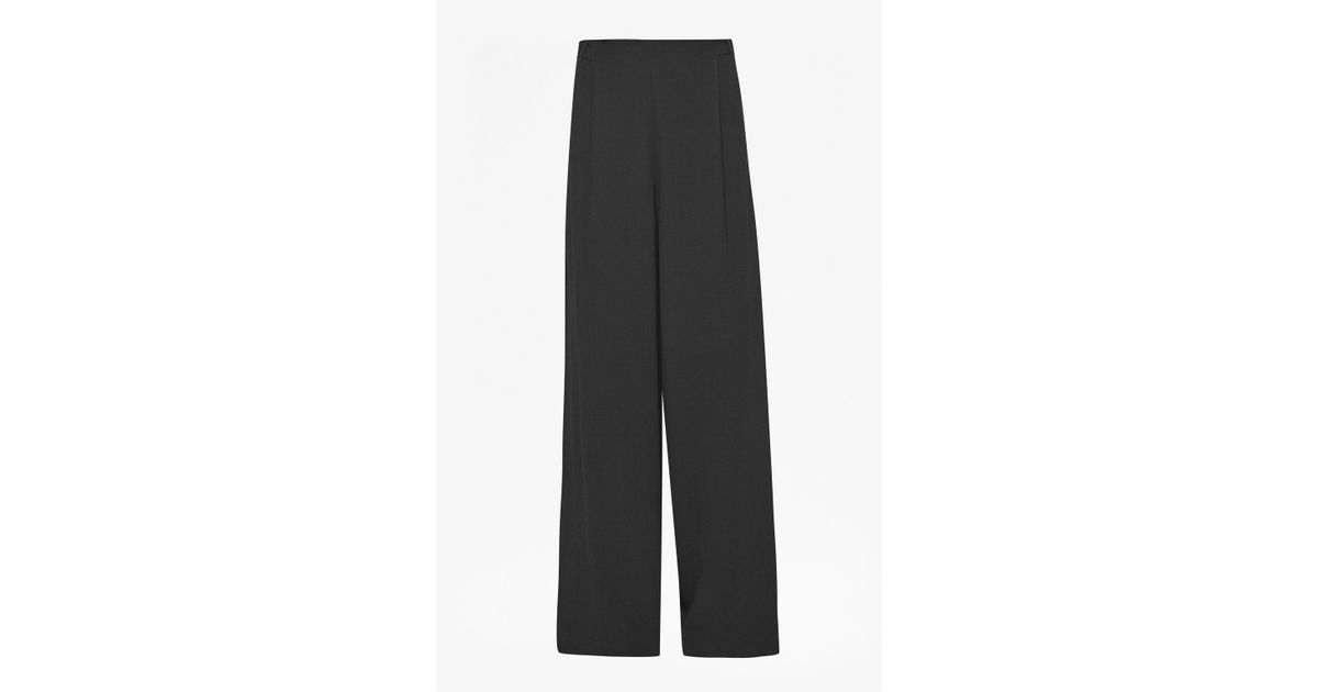 see by chloe replica - French connection Emma Crepe Wide Leg Trousers in Black   Lyst