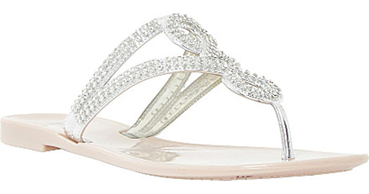 bd823910f86f Lyst - Dune Jellyanne Diamante-embellished Jelly Sandals in Pink
