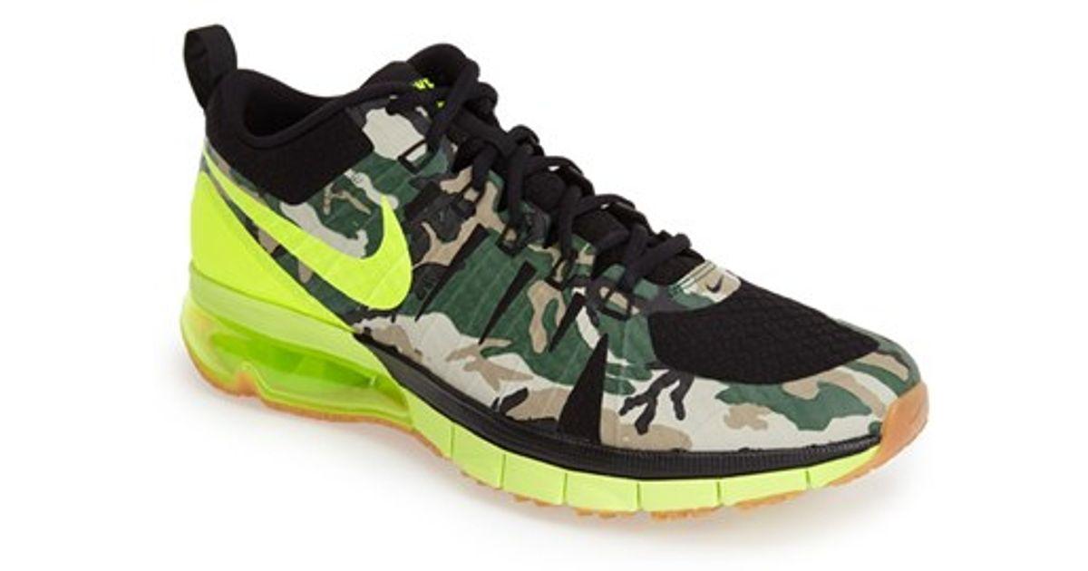 b48841463821e1 ... lyst nike air max tr180 amp training shoe in black for men