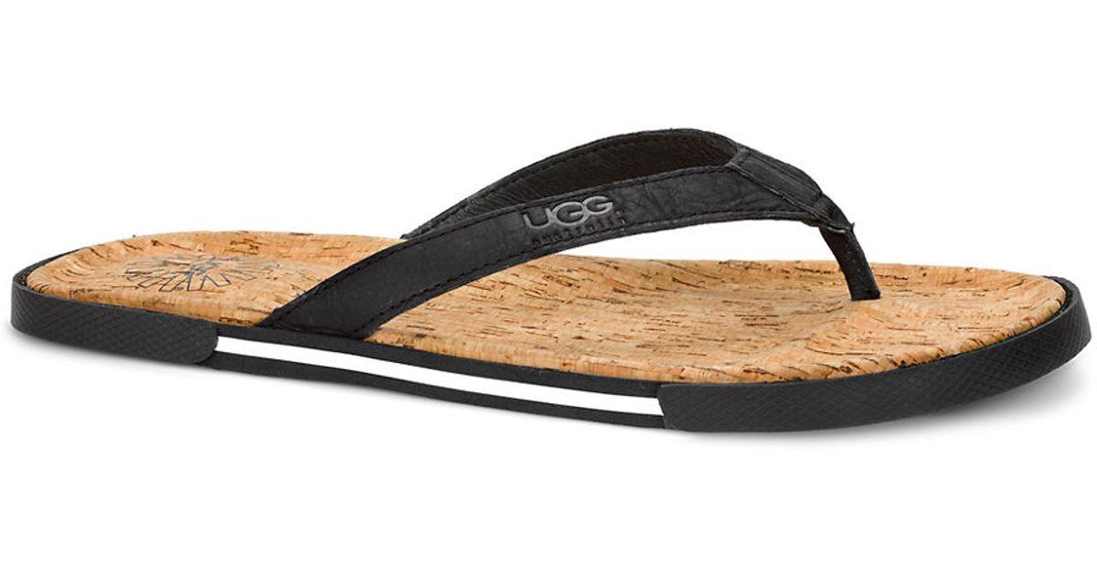 ba0451bbb89f Ugg Australia Bennison Leather Thong Sandals