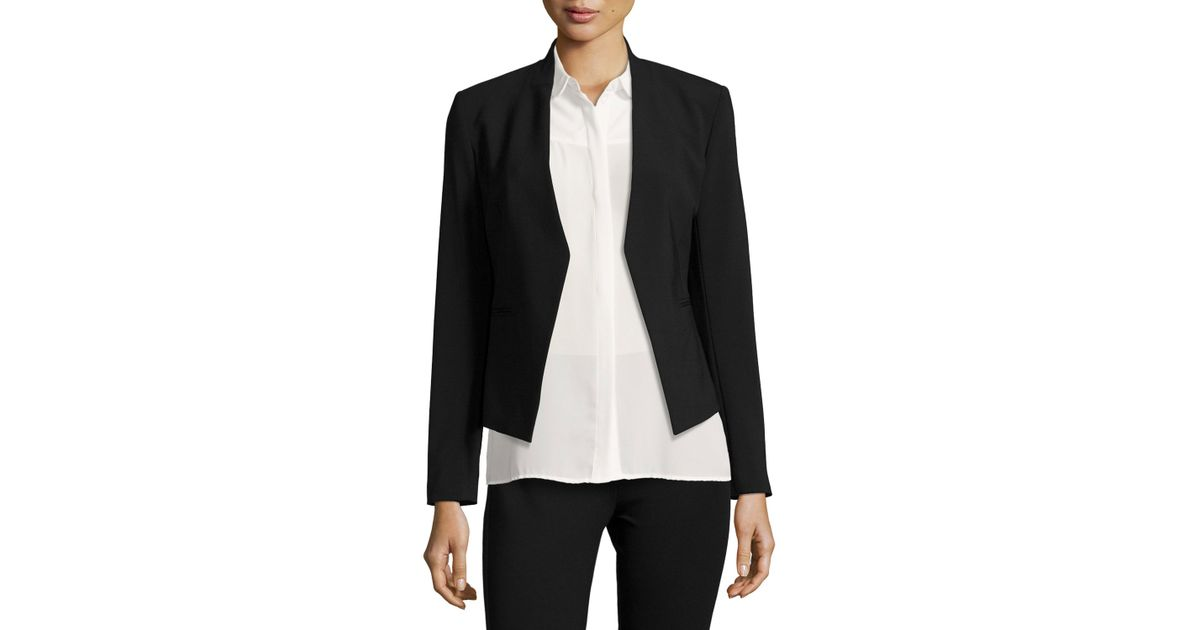 1474ef04da Lyst - Theory Lanai Open-Front Jacket in Black