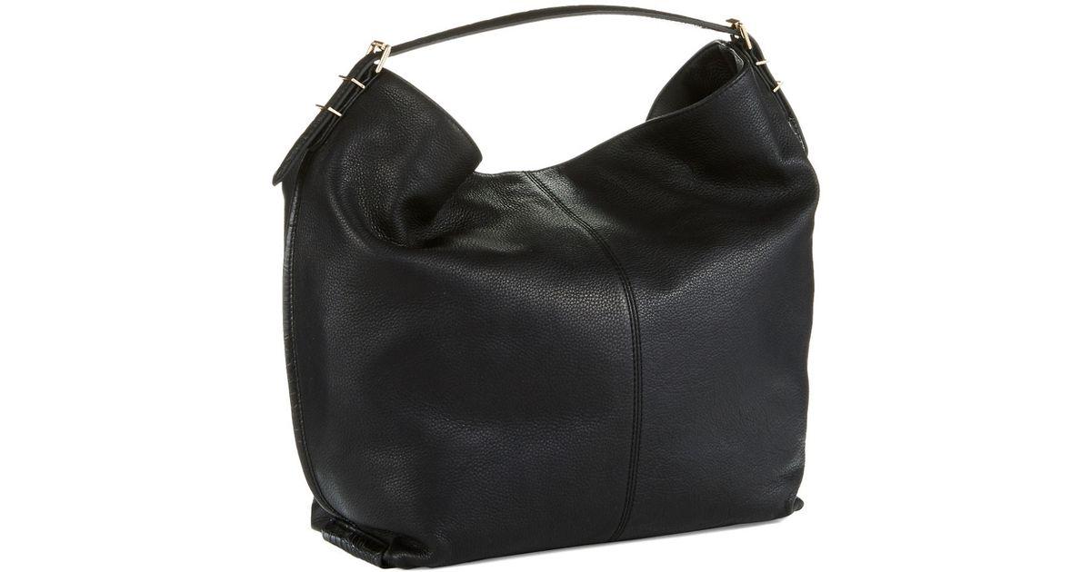 70dd93379014 Lyst - Isaac Mizrahi New York Oversized Leather Hobo Bag in Black