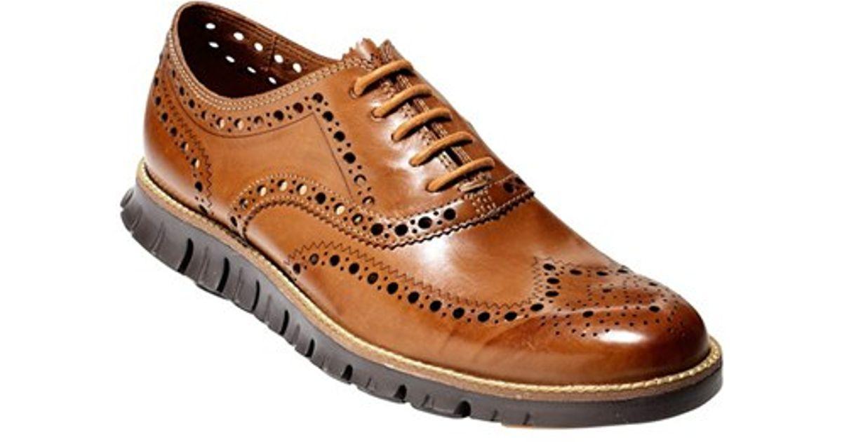 4a6bcb07f41da5 Lyst - Cole Haan  zerogrand  Wingtip in Brown for Men