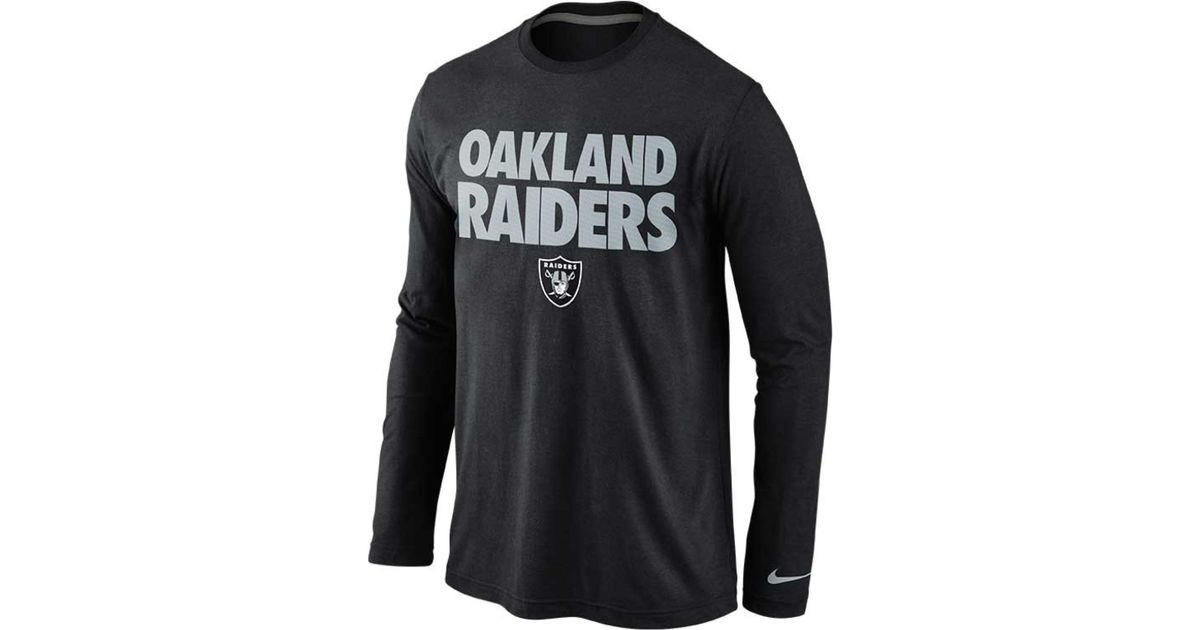 Lyst - Nike Men S Long-Sleeve Oakland Raiders Foundation T-Shirt in Black  for Men d792eaf10