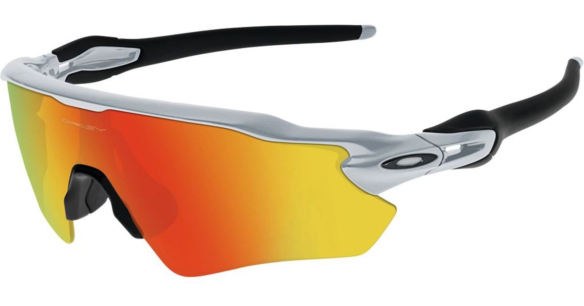 079dc1ee31 ... coupon lyst oakley radar ev path performance sunglasses in orange ed6a9  75bfd