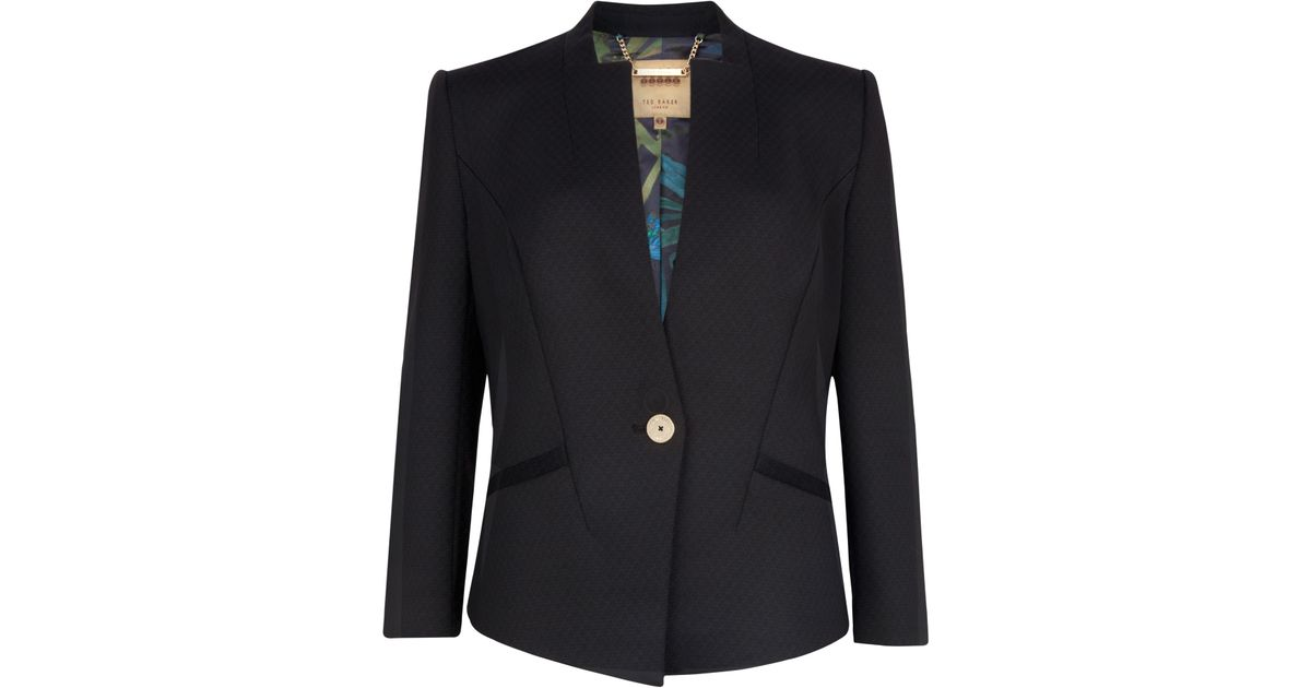 8ef0b46c17232 Ted Baker Chaya Neoprene Suit Jacket in Black - Lyst