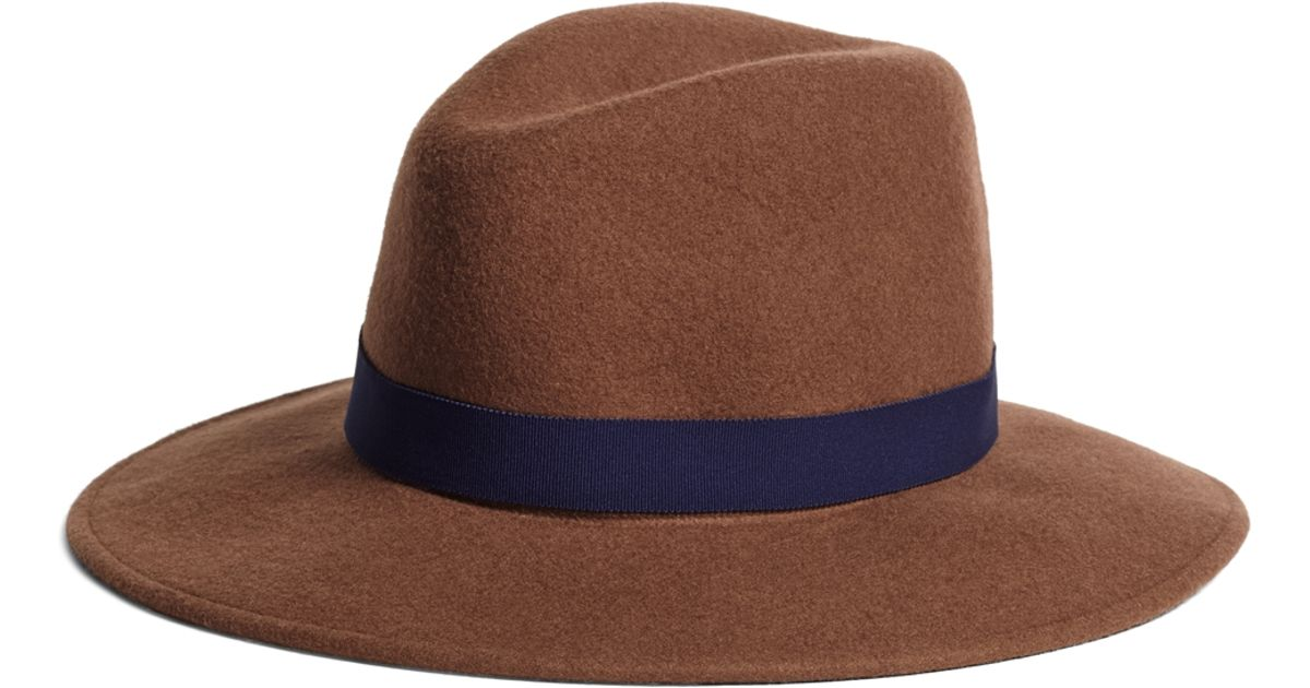 f1434492b67 Lyst - Brooks Brothers Foldable Fedora in Brown