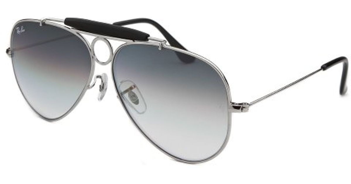 04fc9b99a84 Lyst - Ray-Ban Aviator Shooter Silver-tone Sunglasses in Metallic for Men