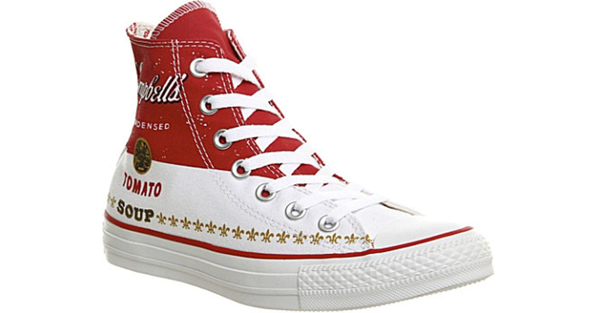 All High Warhol Converse White Top Lyst For Star Men Trainers Andy In ExqTTUwF