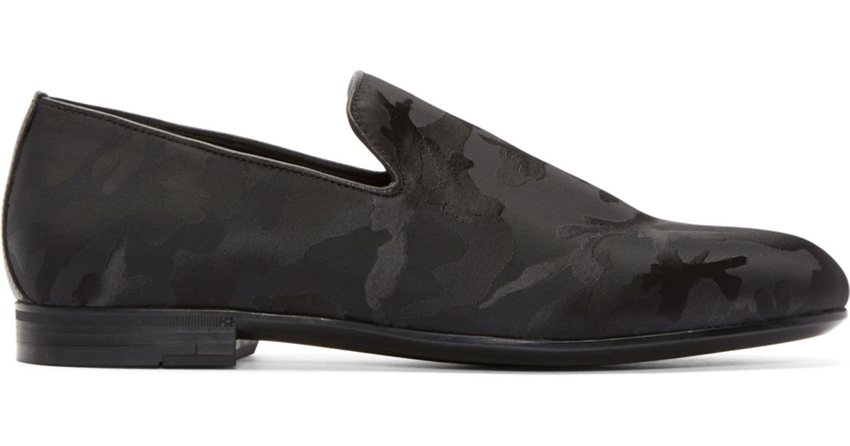 26c45c26c13 Lyst - Jimmy Choo Black Camouflage Sloane Loafers in Black for Men
