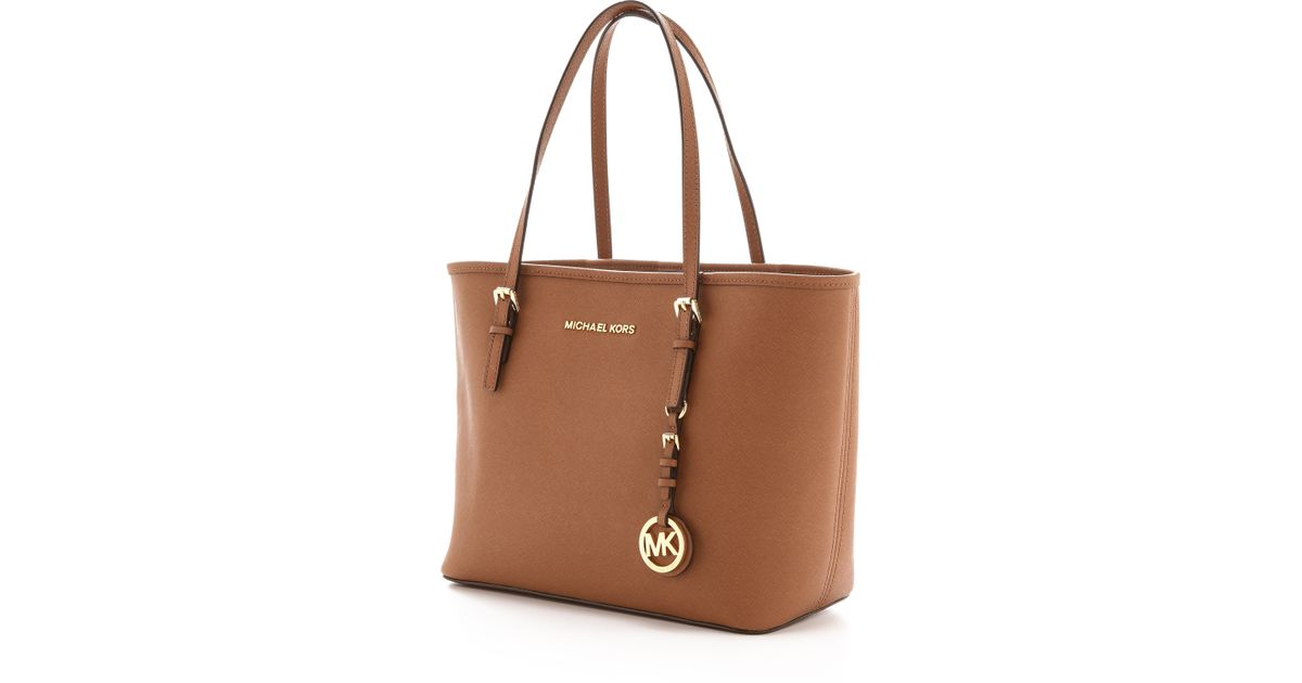 05ff838aaffd Lyst - MICHAEL Michael Kors Small Jet Set Travel Tote - Luggage in Brown
