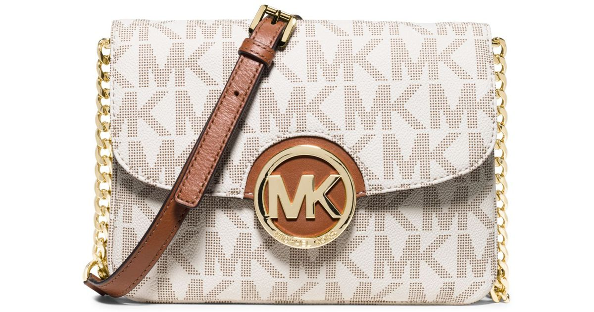 f958fd102fcc Michael Kors Fulton Crossbody Bag in White - Lyst