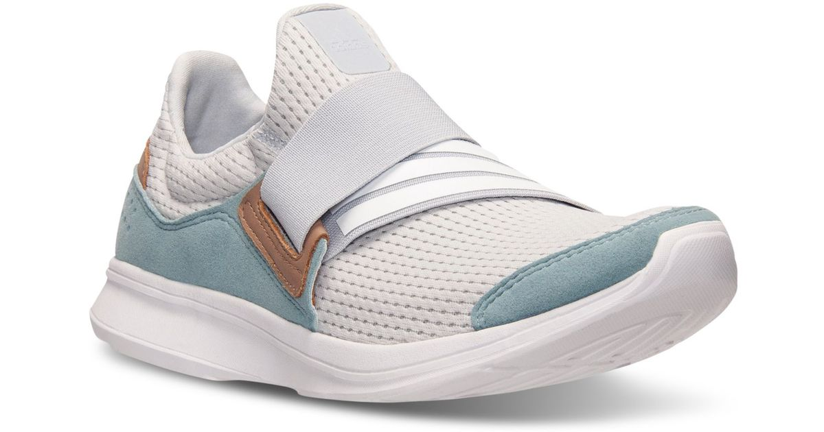 Lyst - adidas Originals Women s Lite Slip-on Running Sneakers From Finish  Line in Gray 2e2d1303e0