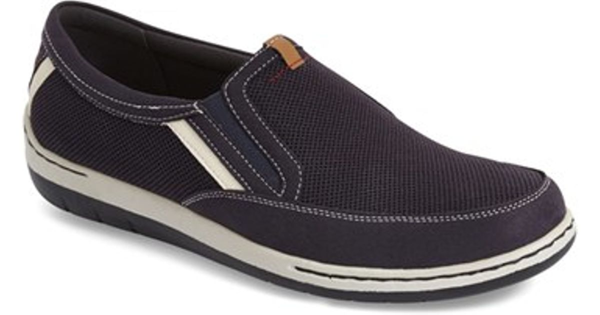 dunham fitsync slip on sneakers in blue for lyst
