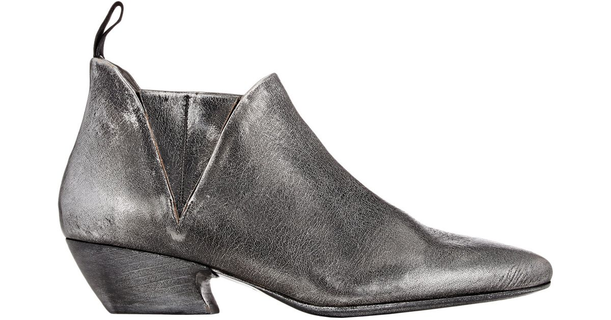 mars ll point toe chelsea boots in metallic lyst. Black Bedroom Furniture Sets. Home Design Ideas