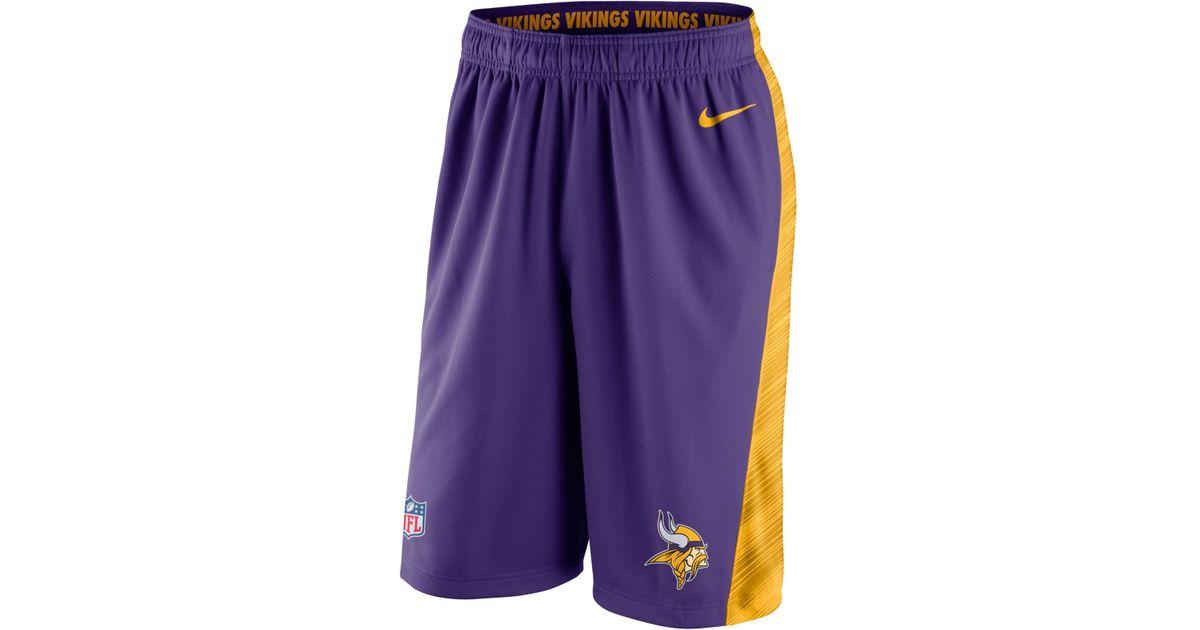 e69f76a27e5 Lyst - Nike Men'S Minnesota Vikings Fly Xl Dri-Fit Shorts in Purple for Men