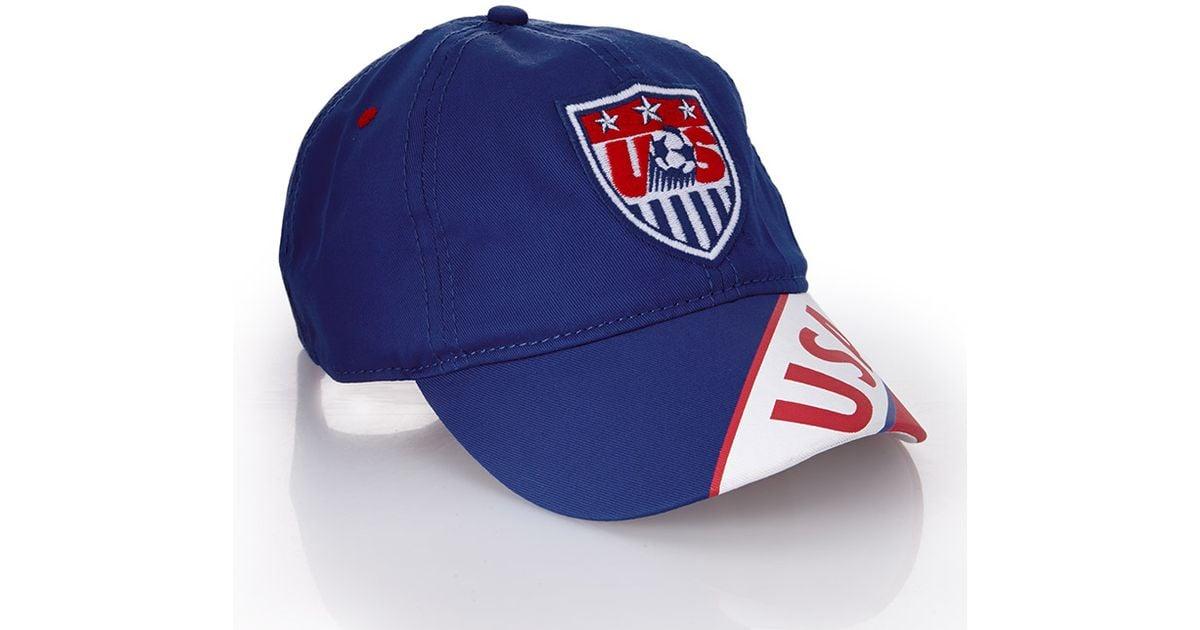 9d7f5e85eb8 Lyst Forever 21 Usa Soccer Cap In Blue