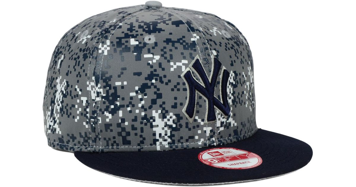248b379ea4d ... shop lyst ktz new york yankees dc reflective 9fifty snapback cap in gray  for men 178a1