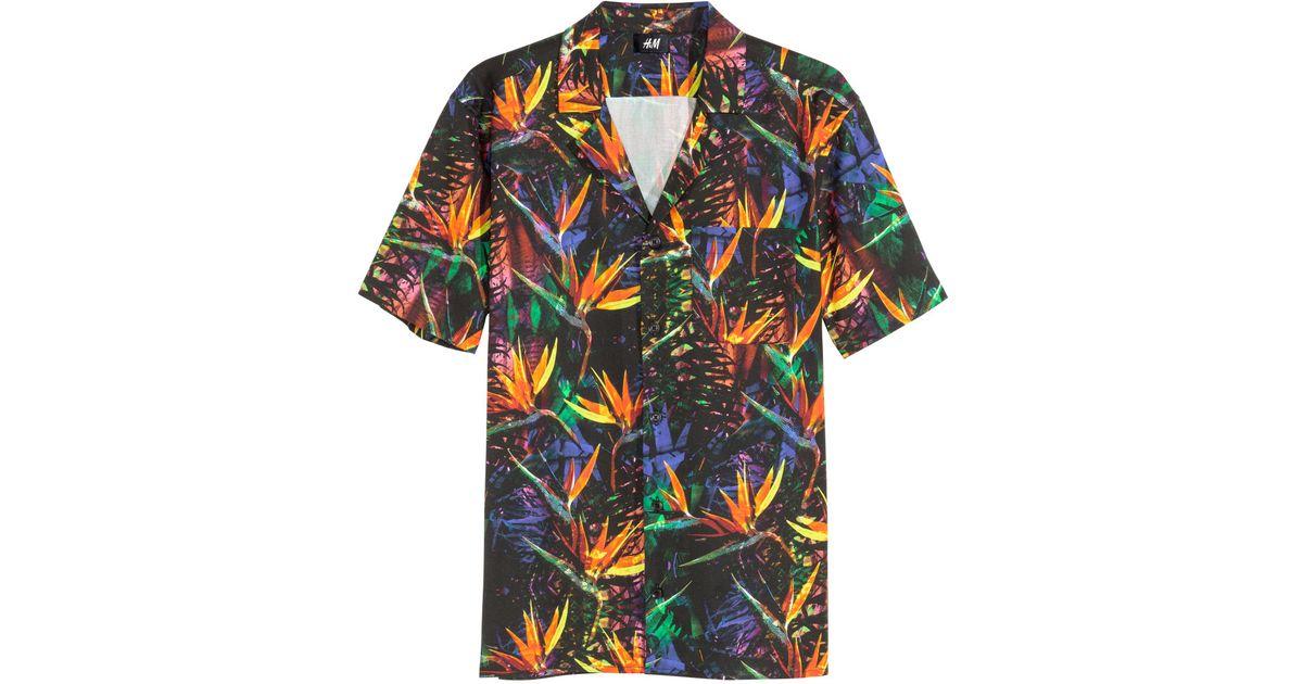 8aa62e9d H&M Hawaiian Shirt in Black for Men - Lyst