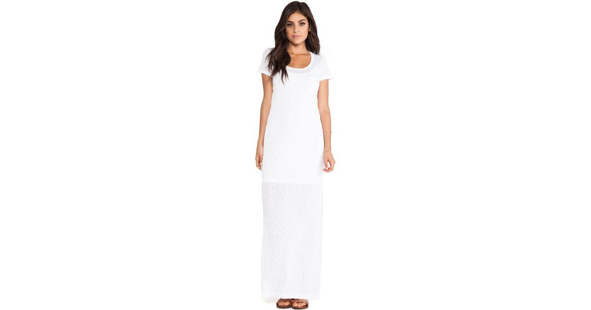 White Tee Maxi Dress