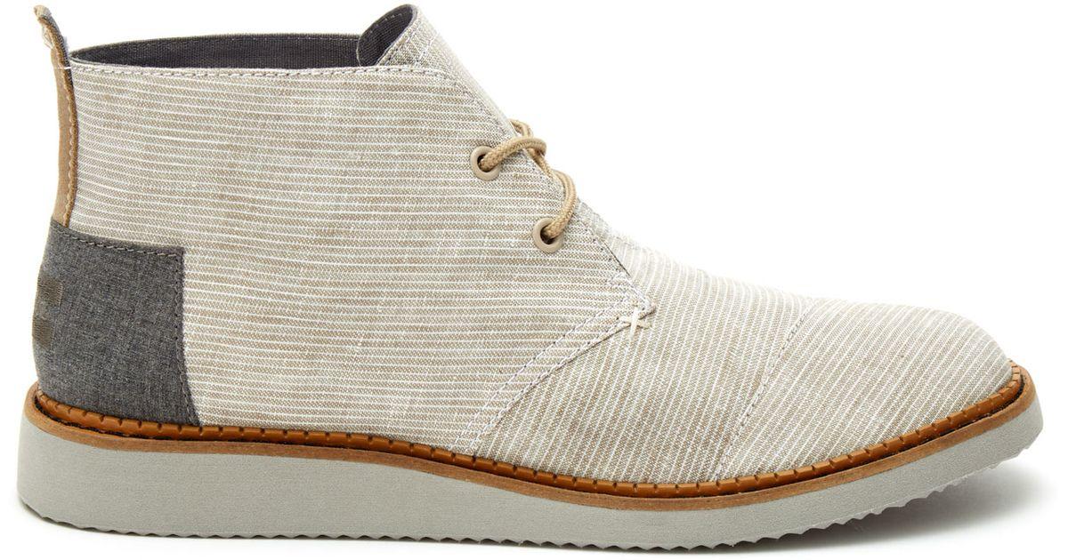 toms light grey pinstripe s mateo chukka boots in