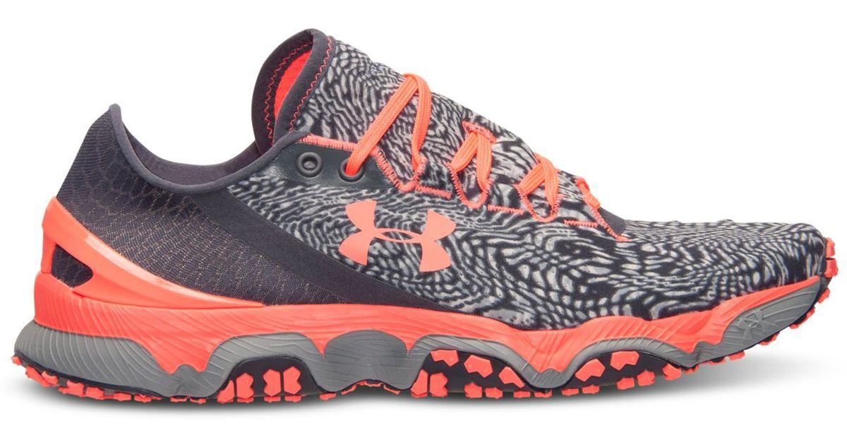 Lyst - Under Armour Women S Speedform Xc Trail Running Sneakers From Finish  Line in Orange 918614c25556