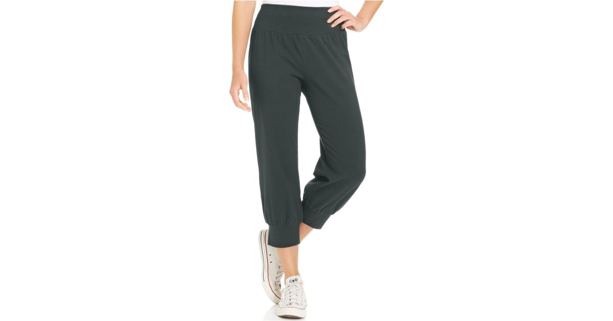 rich and magnificent exceptional range of styles various design Style & Co. Gray Petite Knit Jogger Capri Pants