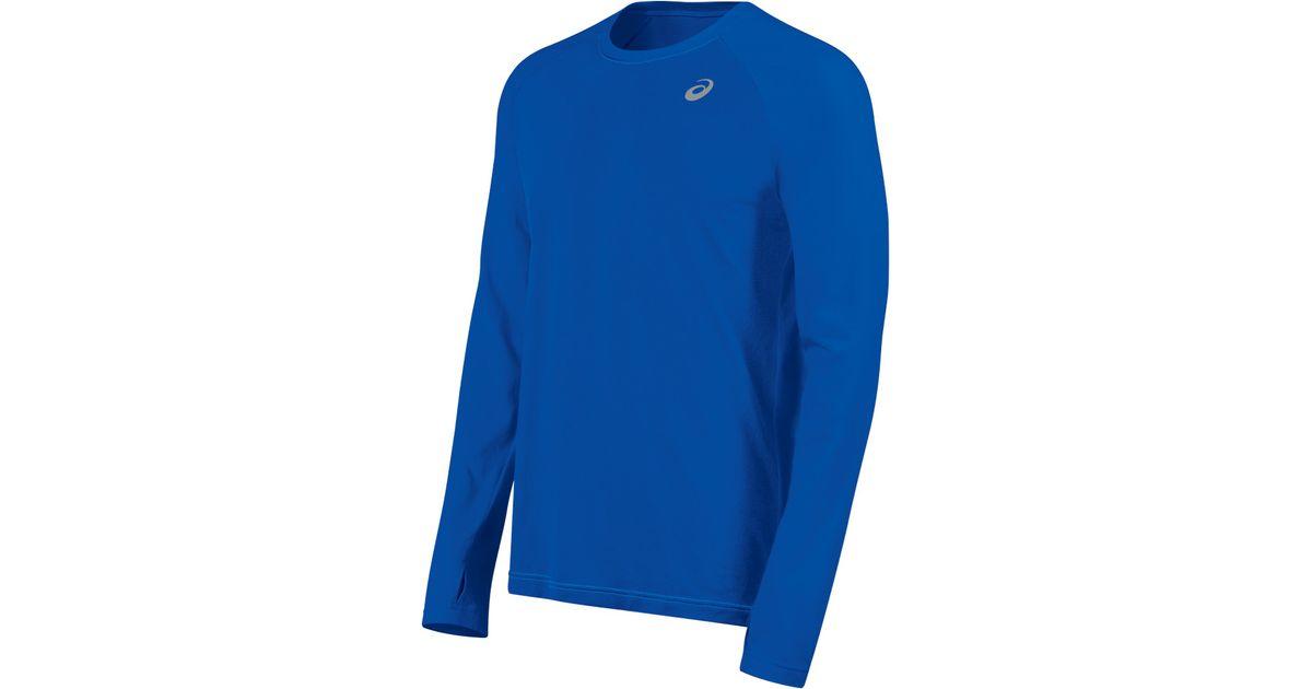 """b28862ebea40 Lyst - Asics Asxâ""""¢ Dry Long Sleeve in Blue for Men"""
