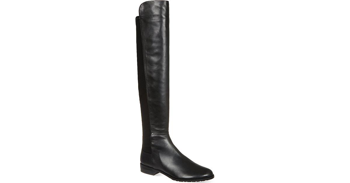stuart weitzman schizo knee high boots in black lyst