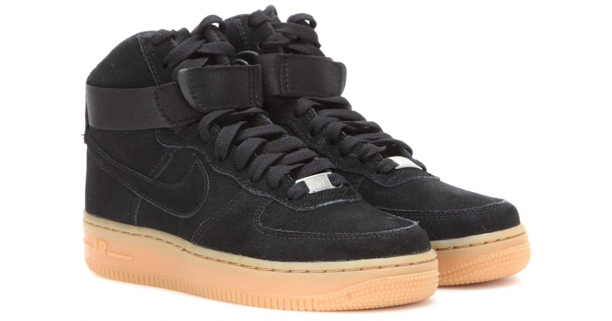 71489b7f24b6 ... new zealand lyst nike air force 1 suede high top sneakers in black  3477d 60f18