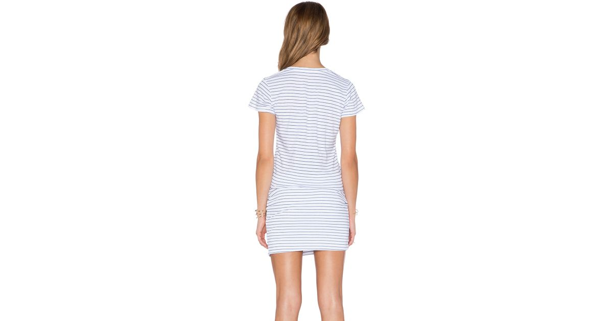 815a58933a345 Lyst - Sundry Pocket Mini Dress in White