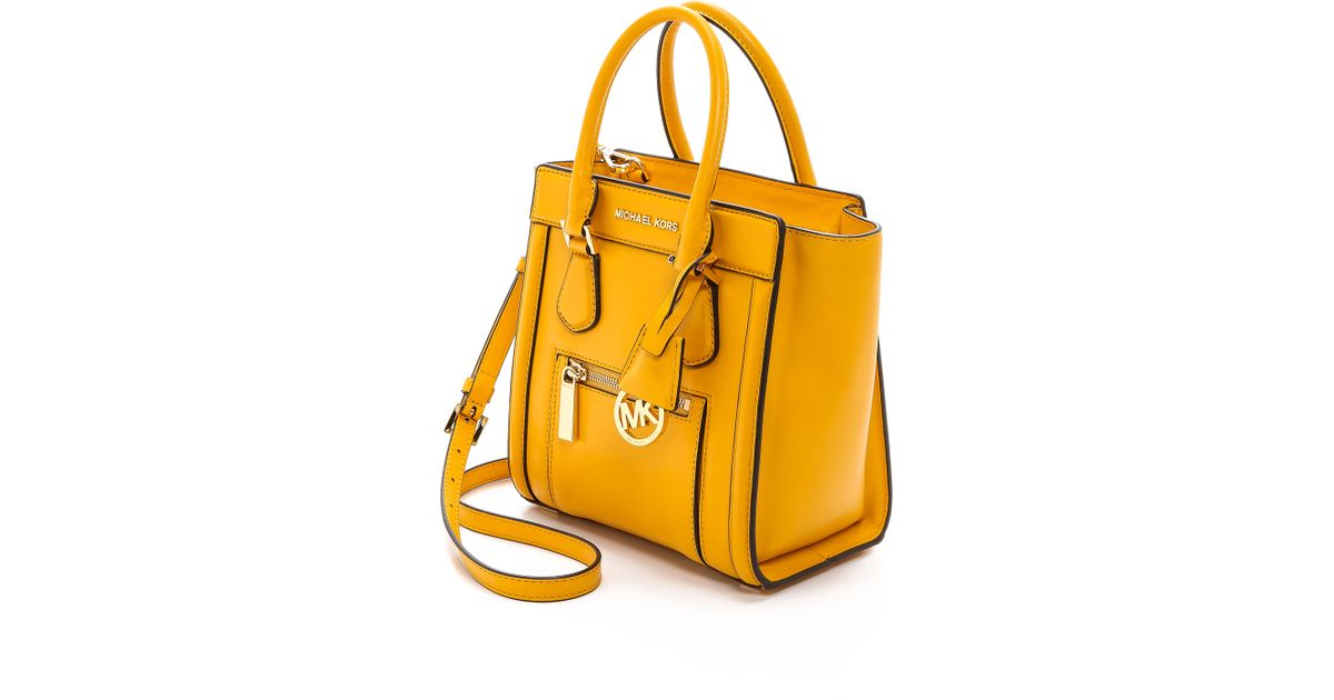 9c46daed15 Lyst - Michael Michael Kors Colette Medium Messenger Bag - Chili in Yellow