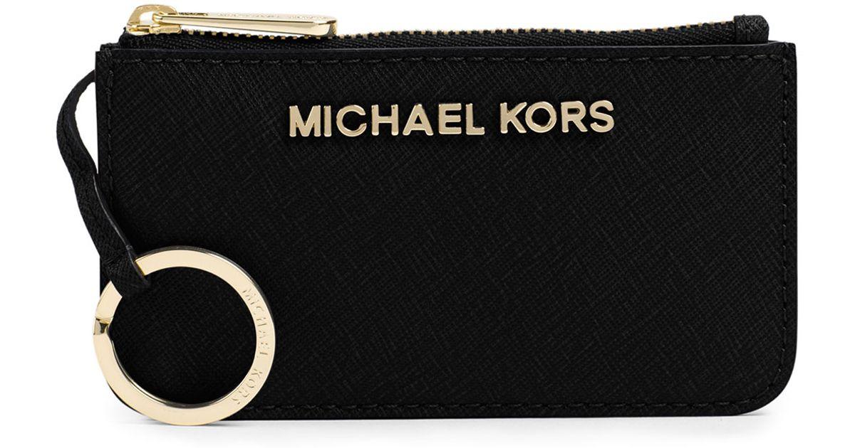 be32fafdbb5d MICHAEL Michael Kors Jet Set Travel Key Pouch in Black - Lyst
