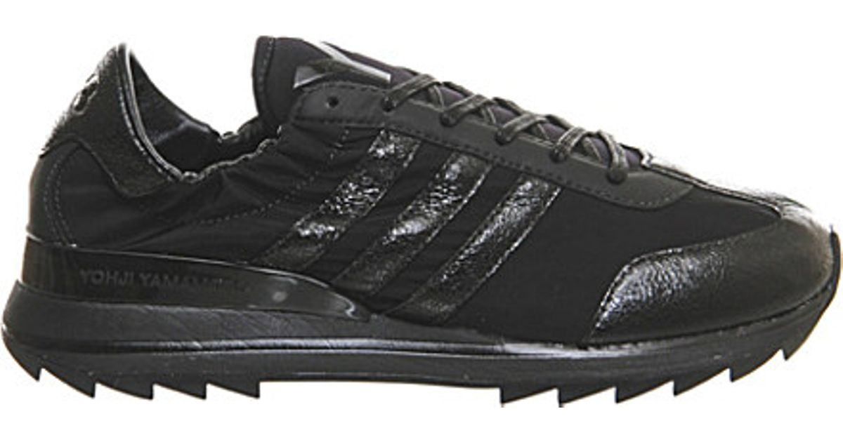 74bba09af313 Lyst - Y-3 Rhita Sport Leather And Mesh Trainers in Black