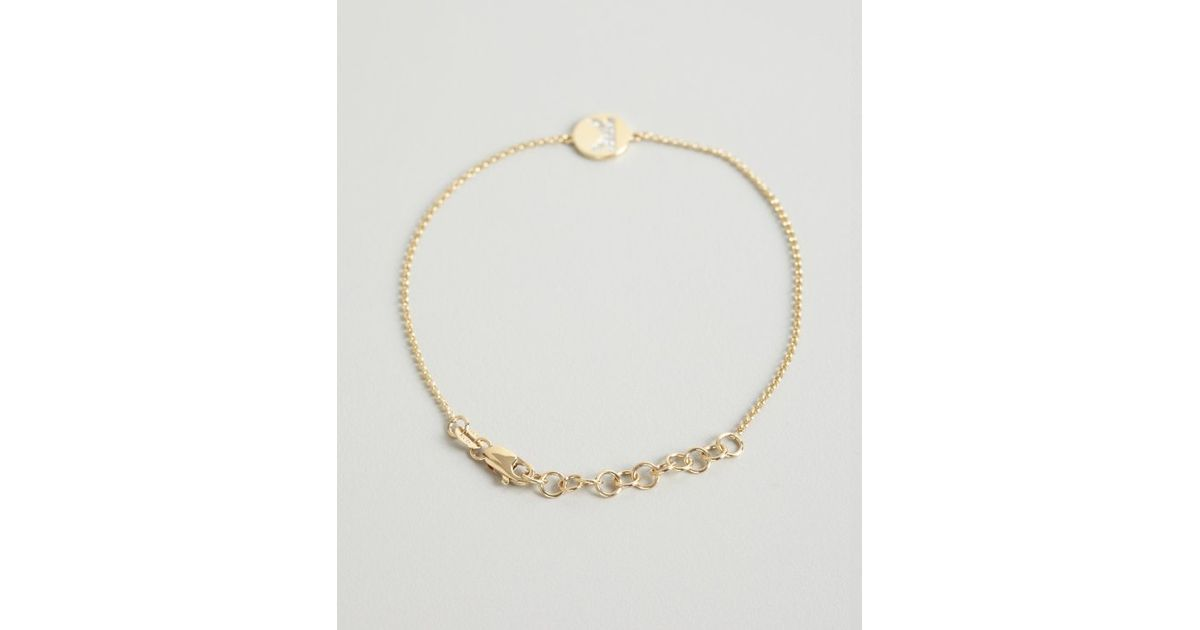 Lyst kc designs gold and diamond k initial pendant bracelet in lyst kc designs gold and diamond k initial pendant bracelet in metallic mozeypictures Images