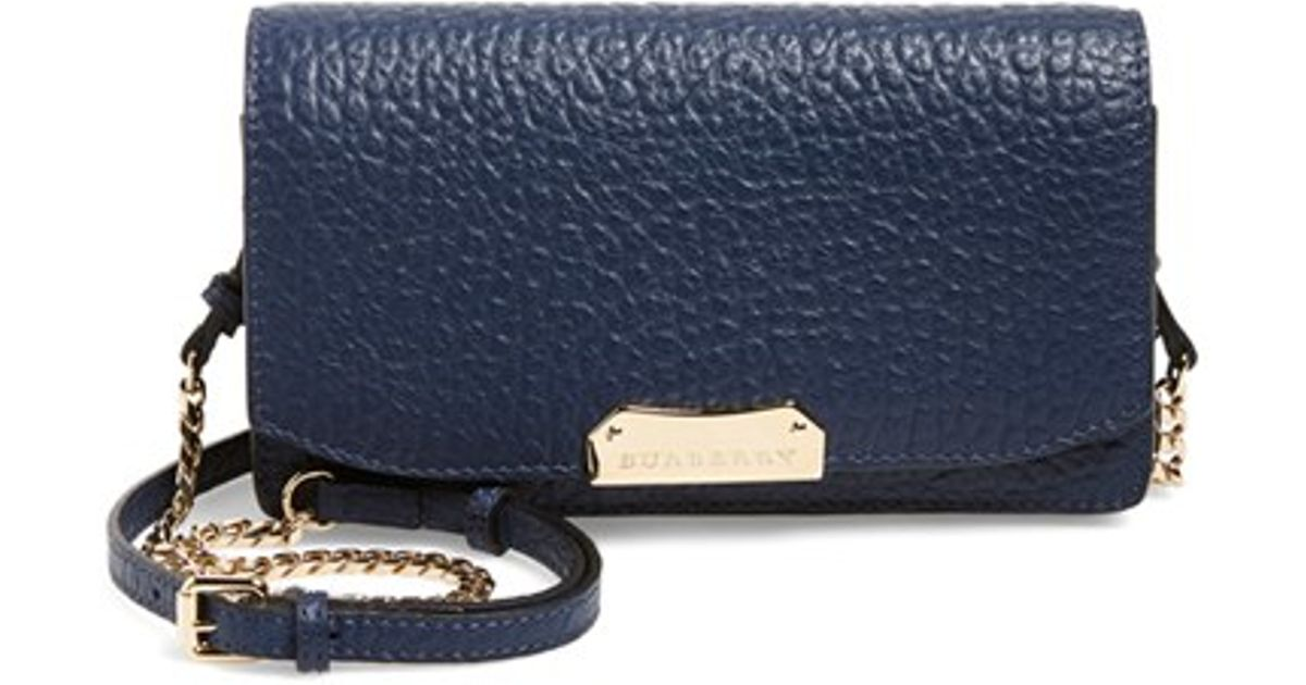 89ce2155ef80 Lyst - Burberry  madison  Wallet On A Chain in Blue