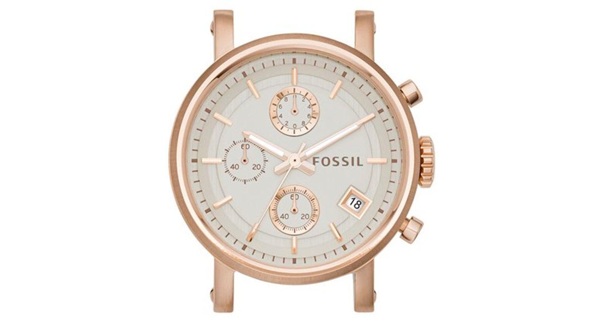 fossil 39 original boyfriend 39 watch case in metallic lyst. Black Bedroom Furniture Sets. Home Design Ideas