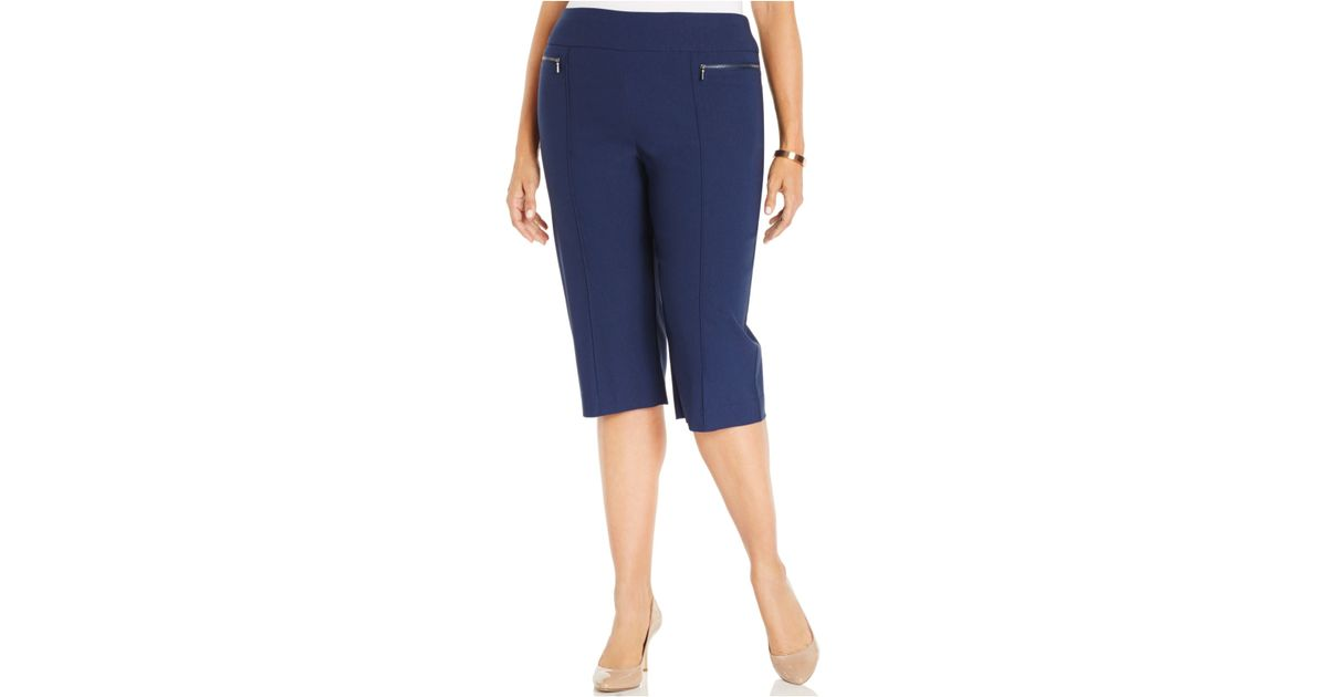 Lyst Style Co Style Co Plus Size Pull On Capri Pants