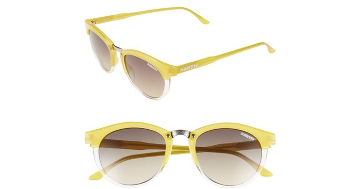 32dd61d3c1e04 Lyst - Smith Optics  questa  49mm Cat Eye Sunglasses - Lemon Crystal  Brown  Gradient in Yellow