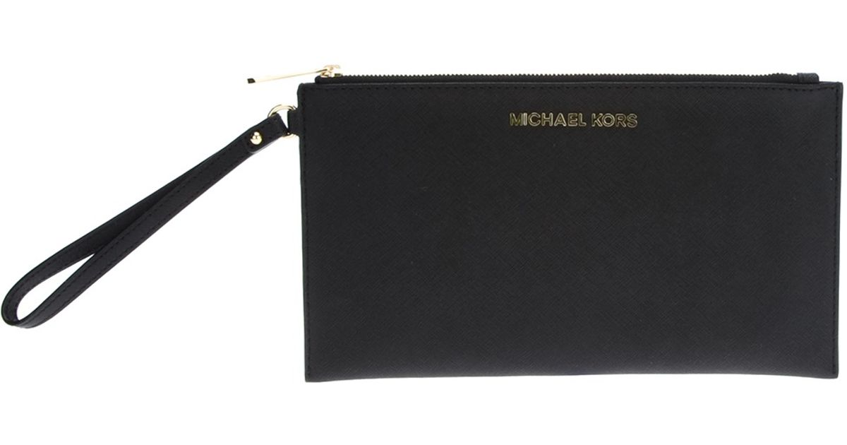Lyst - MICHAEL Michael Kors Pochette Zip Clutch Jet Set Travel in Black 13a3589bb4f
