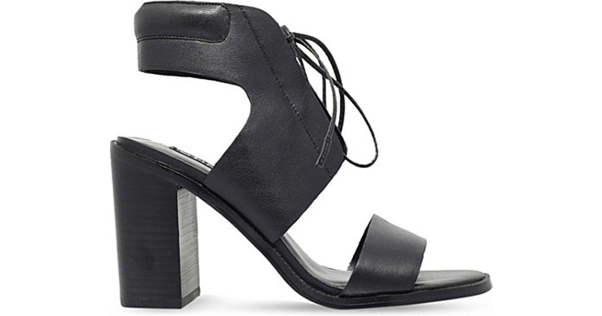 aaddd11eaa9 Lyst - Senso Valleri Vi Leather Heeled Sandals in Black