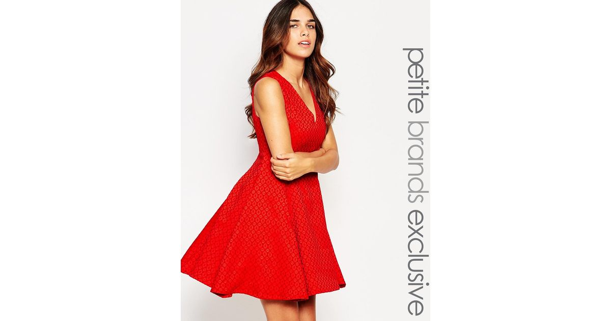 Lyst True Decadence Structured Prom Dress In Red