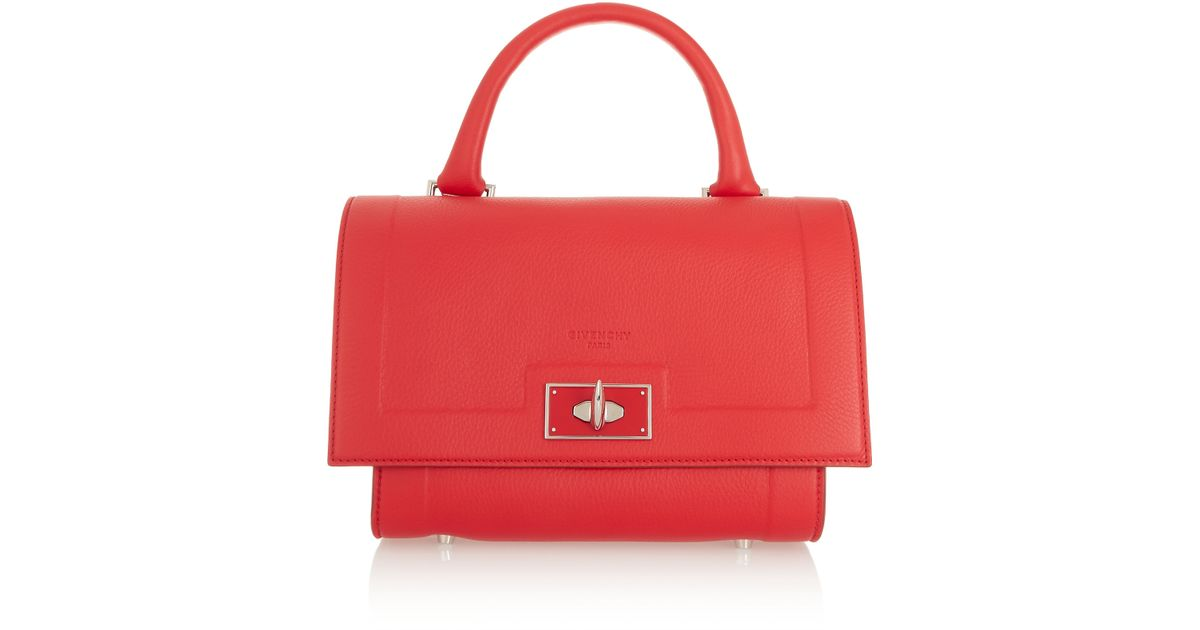 49fdcd895c0c Givenchy Mini Shark Bag In Red Textured-leather in Red