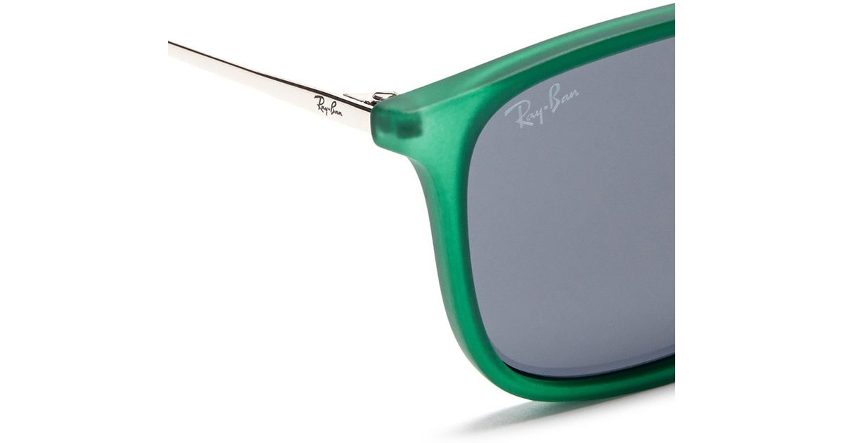 e4310d7d3c5 Lyst - Ray-Ban  chris  Acetate Frame Wire Temple Sunglasses in Green for Men