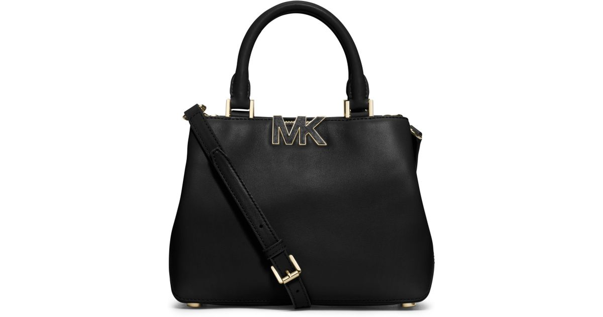 c0b560bd626 Michael Kors Florence Leather Small Satchel in Black - Lyst